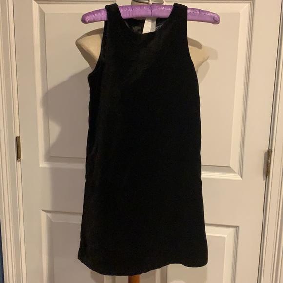 Nwots TCP black velvet dress jumper girls size 12